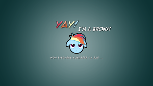 Rainbow Dash Wallpaper (1360x768) by Metalrip