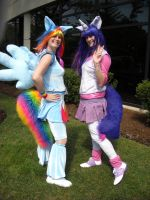 Rainbow Dash and Twilight Sparkle Cosplay by Lionofdemise