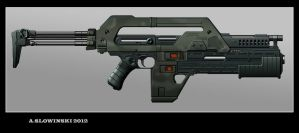 Lisette M41A Pulse Rifle by BlackDonner