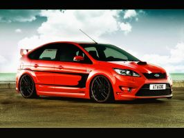 Ford Focus ST virtual tuning remastered by MicroAlex