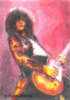 Jimmy Page in dragon suit by Aelroun