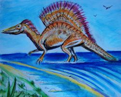Spinosaurus - watercolor by philippeL