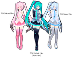 TDA Miku Trio DL by Xoriu