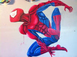 Spidey wall mural wip by guen20