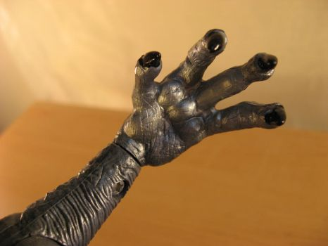 Hand-Godzilla 1998 film figure by draenei-friend