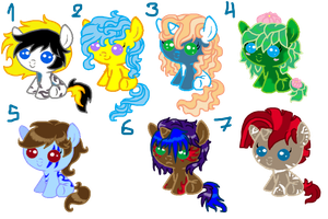 Baby Pony adoptables 07 CLOSED by Sarahostervig