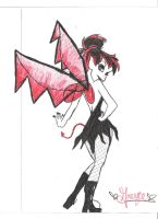 Gothic Tinkerbell by ScarletLips