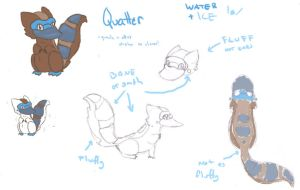 Quatter (fakemon) by Elen93