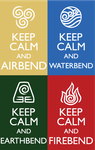 Keep Calm Fandom Badges: AtLA by HylianJess