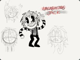 30's Laughing Jack .:Sketch:. by BeeCheerios