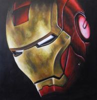 Iron Man Helmet Painting by JonMckenzie