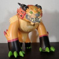 Custom Foo Dog 2 orange black by missmonster