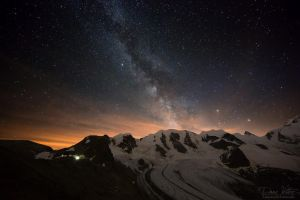 The Pers Glacier and the Milky Way by LinsenSchuss