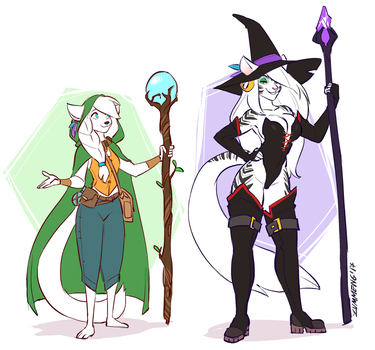 The Druid and the Witch by Zummeng