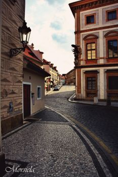 Street on the Prague by morsiela