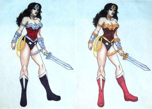 Wonder Woman New 52 Silver VS Gold