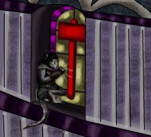 Zharty banging onto the HCathedral window by Dreamer-In-Shadows