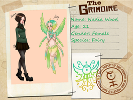 the grimoire ref sheet by Nadia Wood by HollieBiscuit