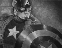 Captain America by joniwagnerart