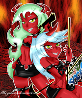 PSG: Scanty and Kneesocks by megadaisy1