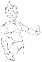 Vegeta Lines by yellow-five