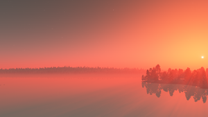 Misty Lake Dawn wallpaper by Vuenick