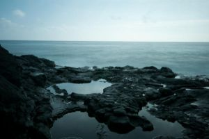 Sea Mirror Background Stock by little-spacey