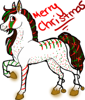 Christmas Horse Adopt-OPEN by Wolfies--Adopts