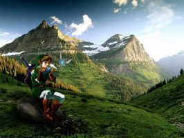 Link with Ocarina by Sasha-Ne123