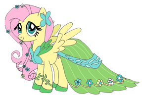Gala Dress - Fluttershy by SkiffyKitten