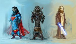 The concept of heroes by Amales