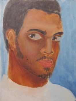 First Self Portrait Painting by gx6