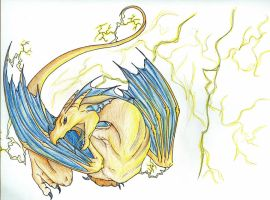 Electric Charizard Dragon by JetHero13