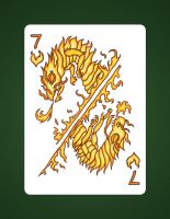 7 Of Hearts aka 7 Of Fire by LineDetail