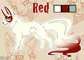 Red character sheet by Valixy