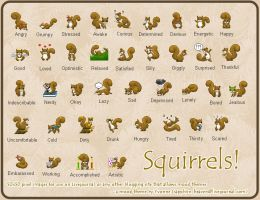 Squirrel Mood Theme Set by princess-phoenix