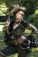Steampunk pirate posing by S-T-A-R-gazer