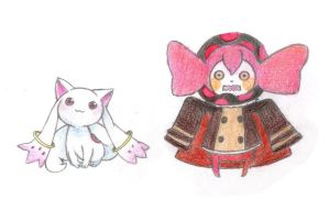 Kyubey and Bebe by meguchan91