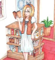 Library Girl by piebutter