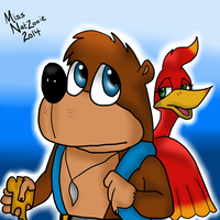 That bear and bird duo by ConkaNat