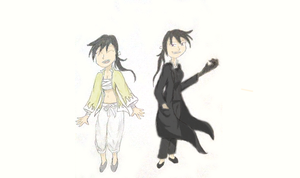 Greed and Ling Gender-Bent by ChibiAddict