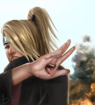 Deidara:Art is a Bang by spirapride