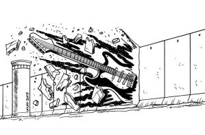 Music against IsraHell Wall by Latuff2