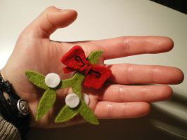 Mistletoe-Brooch by C-Falter