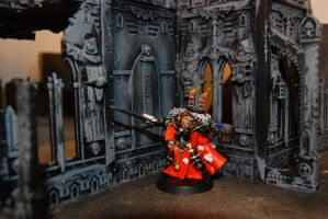 WH40K SoB Canoness by Czethros