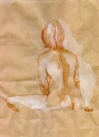 Seated Woman by screamingfish