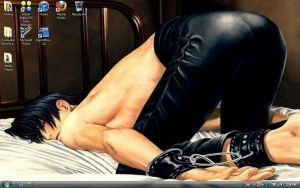My current dead sexy desktop by tootalltygerlily