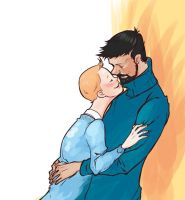 Tintin and Haddock by monster3x