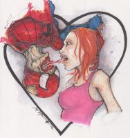 Zombie Spider-man Kiss by ChrisOzFulton