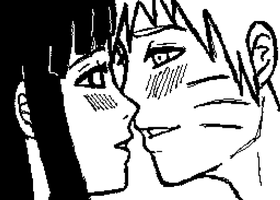 Naruhina Kissing GIF by Axichan